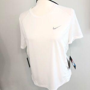 Nike running shirt Top mesh large white